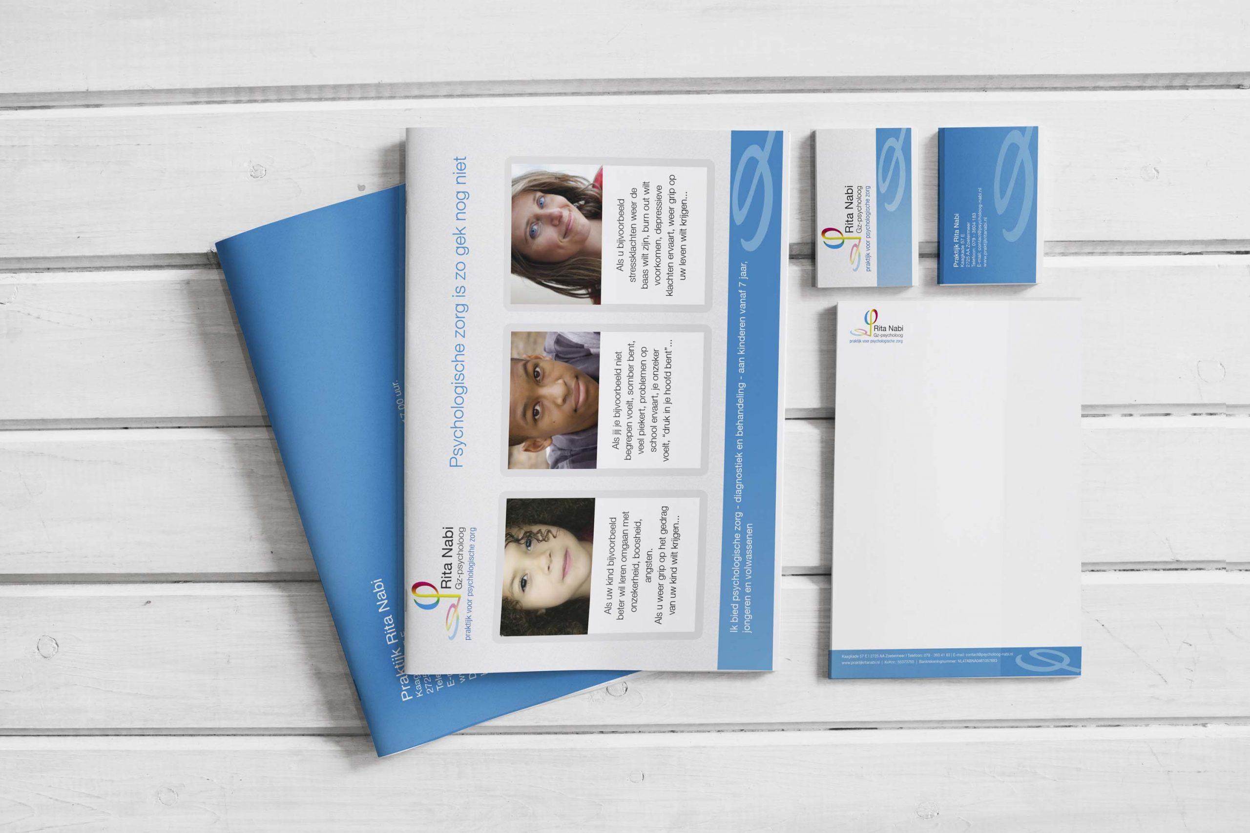 Rita Nabi | Praktijk voor psychologische zorg | Huisstijl ontwerp